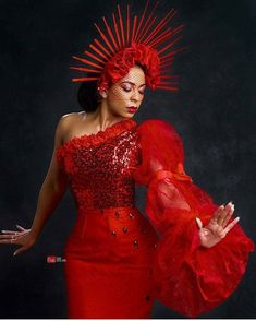 Smoking hot in red @officialtboss_ #houseofmaliq
