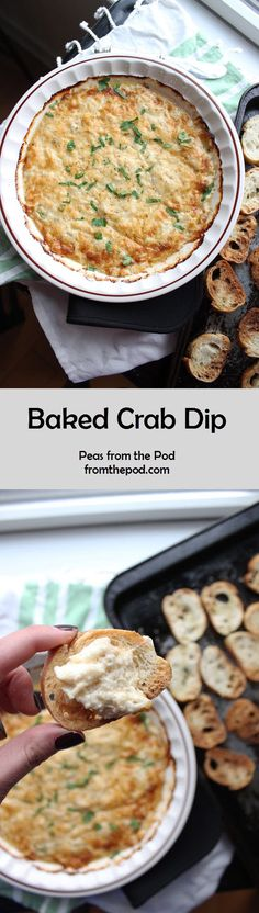 Baked Crab Dip is a great option for any party you might be hosting. From the big game party to a girls night in with wine and movies. @keystothecucina created a cheesy, creamy crab dip with hints of Old Bay seasoning. Yum!