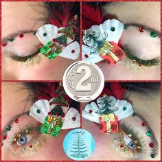 Christmas online be lash competition. 2nd in Masters category. Fantasy lashes. Cindy Nicholls