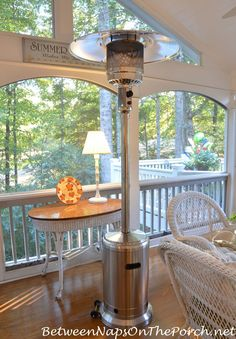 Standing outdoor heater for my deck and patio will help us enjoy fall and winter from Between Naps on the Porch.