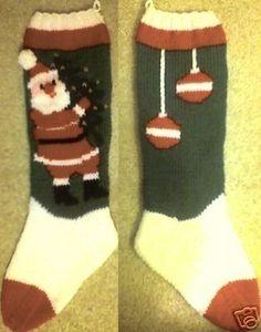 bernat santa with tree stocking pattern | Santa And Tree Christmas Stocking Knitting by TheLoopyKnitter