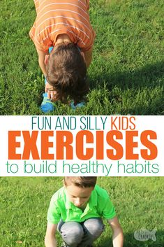 Encourage healthy kids with these silly and fun exercises for kids kid fitness kid exercise routine kid workout active kids healthy kid lifestyle Exercise Activities, Fitness Activities, Exercise For Kids, Physical Activities, Activities For Kids, Kids Workout, Kid Exercise Games, Physical Education, Dementia Activities
