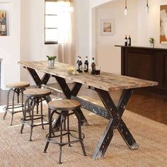 Pinterest & 44 Best NARROW DINING TABLES images in 2019 | Home Design interiors ...