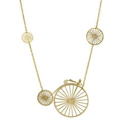 Brass Bicycle Necklace | Monserat De Lucca