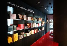 citizenM has partnered up with the bookshop, MENDO. All books throughout hotel available to be bought/shipped