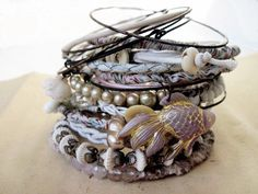 Maidely Lake. Victorian Tribal Gypsy Assemblage Bangle Stack.