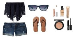"""""""Day at the beach. ☀️"""" by emilygrace0322 ❤ liked on Polyvore featuring Chloé, Aéropostale, GlassesUSA, Abercrombie & Fitch, Bare Escentuals, NARS Cosmetics and Laura Mercier"""