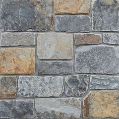 Explore all of our Merrillstone Natural Stone Veneer products. We offer many styles and colors to choose from. Natural Stone Veneer, Natural Stones, Stone Siding, Stone Supplier, Shutter Doors, Brick Design, Rock Wall, Home Remodeling, New Homes