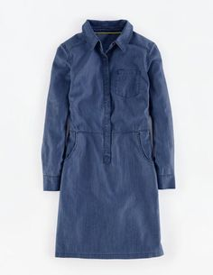 Cord & Denim Shirt Dress