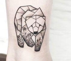 Bear tattoo by Olga Sienkiewicz