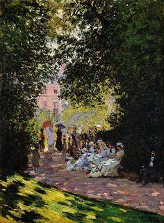 Клод Моне - Parc Monceau, 1878. Клод Оскар Моне