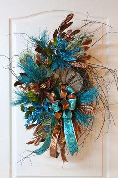 Teal/Peacock Wreath