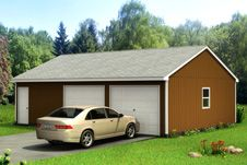 Custom Building Package Kits: Two Car Garages