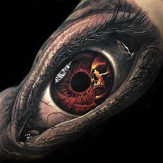 Best eye tattoo ever! Best eye tattoo ever! Hand Tattoos, Tattoo Henna, Time Tattoos, Skull Tattoos, Arm Band Tattoo, Tattoos For Guys, Sleeve Tattoos, Cool Tattoos, Beautiful Tattoos