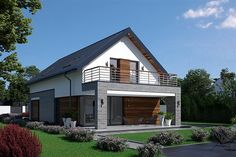 Projekt domu Fiodor G2 133,7 m2 - koszt budowy - EXTRADOM Model House Plan, House Plans, Good House, House Extensions, Home Fashion, Beach House, Villa, New Homes, House Design