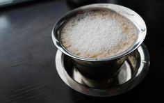 'South Indian Coffee, also known as Madras Filter Coffee or Kaapi Coffee Milk, Coffee Art, Coffee Beans, Coffee Shop, Indian Coffee, India Street, Kerala Food, Indian Food Recipes, Ethnic Recipes