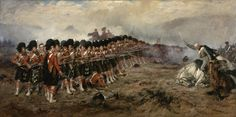 THE THIN RED LINE The 1881 painting by Robert Gibb showing the (Sutherland Highlanders) Regiment of Foot standing against Russian cavalry at the Battle of Balaclava on 25 October 1854 during the Crimean War Stock Photo Oil On Canvas, Canvas Prints, Art Prints, Battle Of Balaclava, Crimean War, Highlanders, Abyssinian, Barbarian, Military History