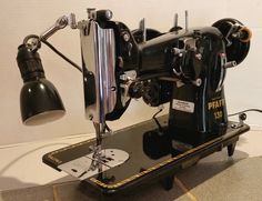 The German-made Pfaff 130 is one of the finest sewing machines ever made or ever likely to be built. Restored by Stagecoach Road Vintage Sewing Machine