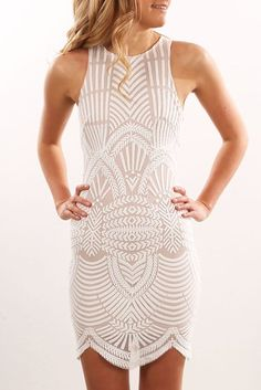 Rise Up Dress White