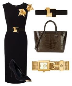 """Sheath dress styling"" by iuliastyles ❤ liked on Polyvore featuring Roland Mouret, Tory Burch, Alexander McQueen, Roksanda, Givenchy, Victoria Beckham, WorkWear, black and sheathdress"