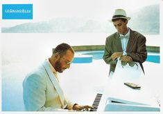 https://flic.kr/p/C1d44T | Jean Reno and Sergio Castellitto in Le Grand Bleu (1988) | French postcard by Ciné Passion, no. GB 1. Photo: publicity still for Le Grand Bleu (Luc Besson, 1988).  Jean Reno (1948) is a Moroccan-born French actor of Spanish descent, with a low-key raspy voice. He became known for his many roles in films by director Luc Besson, including Le Grand Bleu/The Big Blue (1988), Nikita  (1990), and Léon: The Professional  (1994). Working in French, English, Japanese…