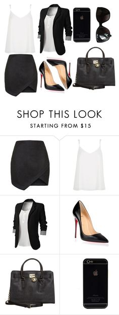 """""""2015/1060"""" by dimceandovski on Polyvore featuring Topshop, River Island, Christian Louboutin, MICHAEL Michael Kors and Chanel"""