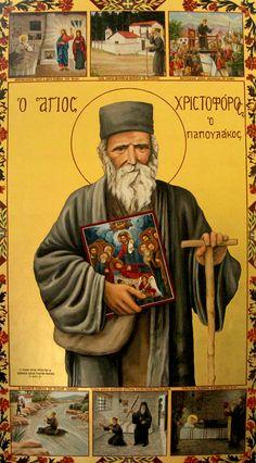 Saint Christopher, Byzantine Icons, Orthodox Christianity, Orthodox Icons, St Michael, Holy Spirit, Jesus Christ, Saints, Religion
