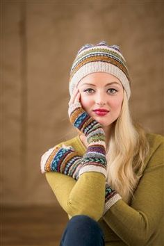 Tilting Fair Isle Mitts and Hat - Media - Knitting Daily