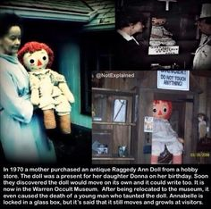 The story behind the real #AnnabelleDoll. https://www.youtube.com/watch?v=Ud78XMy_3aE
