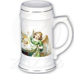 Stein, Mug, Cup, Mary and Baby Jesus and Angels from Zazzle.com