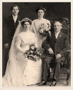 1910 Wedding Party. jj