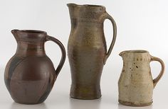 Various Unknown Artists: Three Stoneware Pitchers