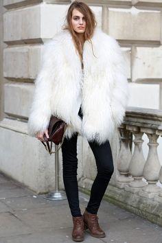 White faux fur coat #blanc_comm #blancpr #blancbranding #blancsocial #blancevents #blanccommunications