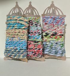 Fabric twine 6 Yards by sarahracha on Etsy (Craft Supplies & Tools, Fabric, Trim, yarn, cotton, colorful, ribbon, party, cord, fabric, fabric twine, twine, hand spun, gift packaging)