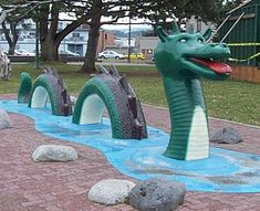 Ogopogo...a legendary lake monster reported to live in Okanagan Lake in BC
