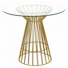 Stół Cage to wyrafinowane połączenie szkła i stali. Dzięki oryginalnej podstawie złożonej z