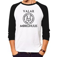 Game of Thrones fans, Isn't this cool?   Game of Thrones V...  Get it now at  http://www.kingslandingmarket.com/products/game-of-thrones-valar-morghulis-long-sleeve-t-shirt?utm_campaign=social_autopilot&utm_source=pin&utm_medium=pin