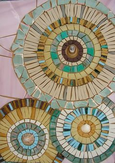 Items similar to Ceramic Blue Circles Mosaic Card - Blank Greetings Card - Mosaic Art on Etsy hashtags Mosaic Rocks, Pebble Mosaic, Stone Mosaic, Mosaic Glass, Glass Art, Stained Glass, Sea Glass, Mosaic Artwork, Mosaic Wall Art