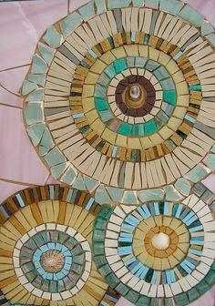 Xoxo mosaics circles aqua teal turquoise