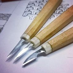 Woodcarving knives  #woodcarving #chipcarving #woodworking #wood #handmade #handforged