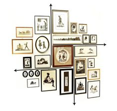 Home Decoration Cheap 5 Tips on Hanging a Growing Gallery Wall Gallery Wall Layout, Gallery Wall Frames, Wall Collage Frames, Stair Gallery Wall, Kitchen Gallery Wall, Gallery Walls, Wall Hanging Arrangements, Picture Arrangements On Wall, Decoration Photo