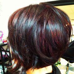 Dark Cherry Red with Black Dimension