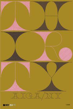 Gorgeous type by Milton Glaser
