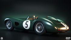 Aston Martin DBR1 on Behance Le Mans, Aston Martin Dbr1, Classic Aston Martin, Old Lorries, British Sports Cars, Vintage Cars, Vintage Auto, Courses, Race Cars