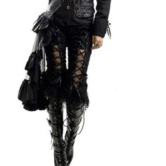 Latest trends for women's gothic trousers and punk trousers at Crazyinlove online. Find gothic pants, punk pants, urban trousers and alternative pants. Moda Steampunk, Steampunk Fashion, Gothic Mode, Gothic Lolita, Alternative Mode, Alternative Fashion, Dark Fashion, Gothic Fashion, Rococo Fashion