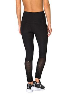 RBX Active Womens Full Length Lazer Cut Leggings with Flocked Mesh Black S >>> Find out more about the great product at the image link.