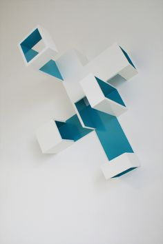 Brantt - Cyan-20/90.60.70, 90 x 60 x 70 cm., high gloss paint on MDF