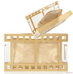 Charlotte Olympia Box Office Pandora Perspex Clutch ~ Hollywood Glam!