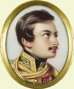 Count Alexander Mensdorff-Pouilly a miniature by Henry Pierce Bone enamel on copper Acquired by Queen Victoria