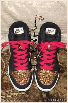 95b02eb349f7 Womens Bling Nike Sky Hi Dunks